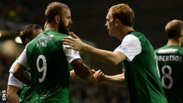 Hibs knocked five goals past Stranraer in the previous round