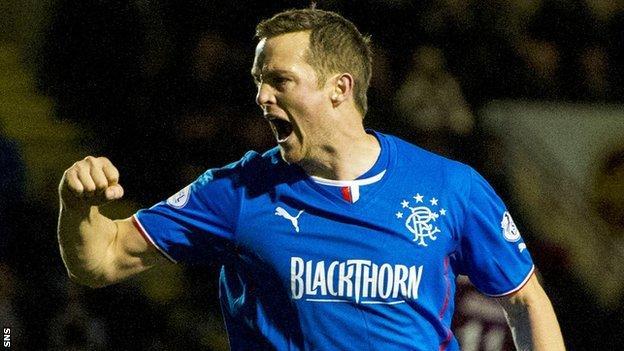 Rangers scorer Jon Daly