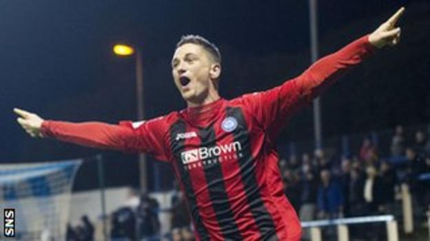 St Johnstone midfielder Gary McDonald celebrates after scoring against Morton