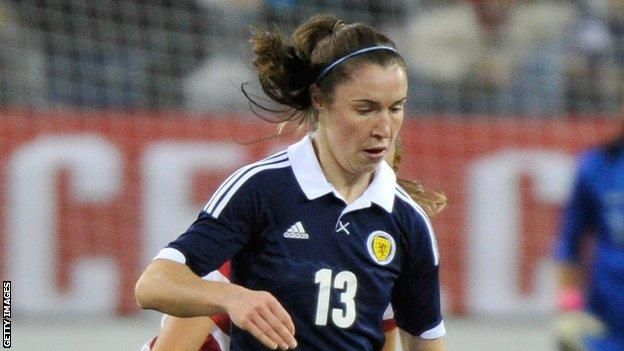 Scotland's Jane Ross fired a hat-trick in the win in Poland