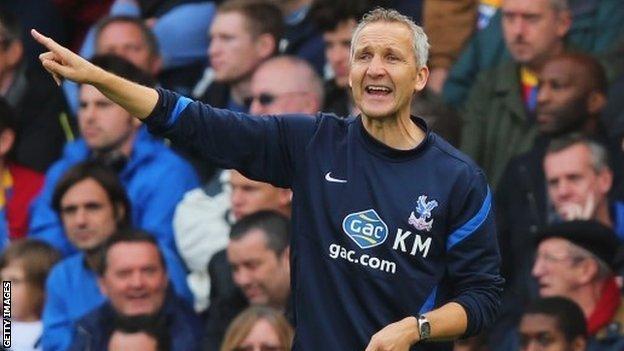 Crystal Palace caretaker manager Keith Millen