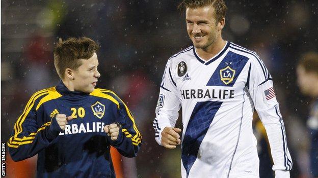 Brooklyn and David Beckham