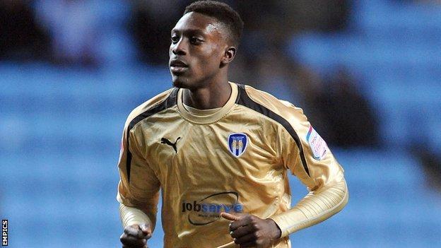 Colchester striker Freddy Ladapo