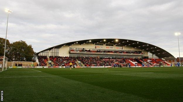 Fleetwood Town's Highbury Stadium