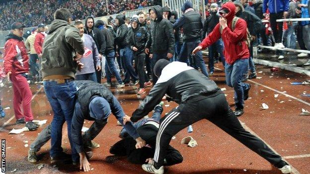 Trouble at Spartak Moscow game