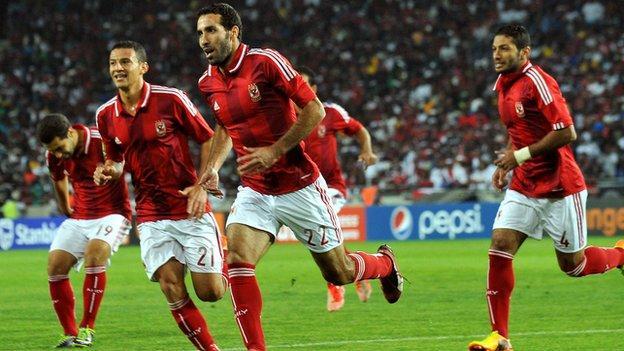 Mohamed Aboutrika celebrates his goal
