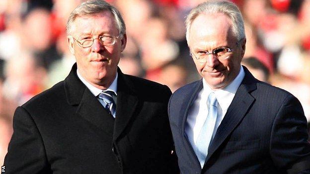 Sven Goran Eriksson and Sir Alex Ferguson