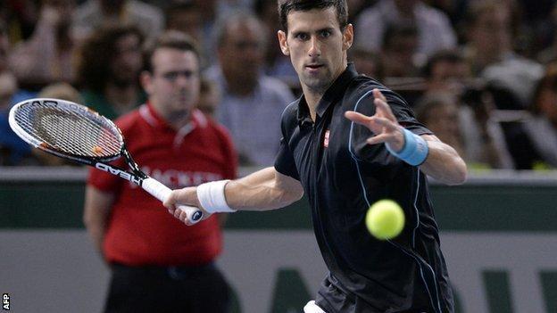 Novak Djokovic v David Ferrer Paris Masters final
