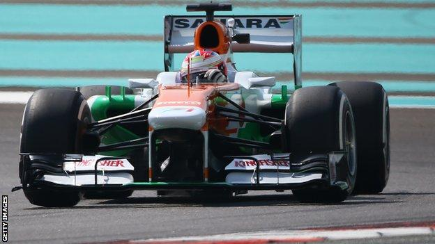 Force India's Paul Di Resta, who finished 6th