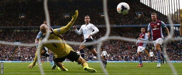 Roberto Soldado's goal against Aston Villa last month is his only strike in open play for Spurs