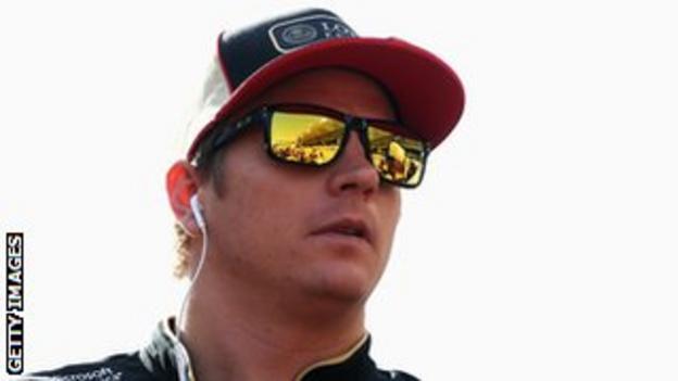 Kimi Raikkonen looking stressed