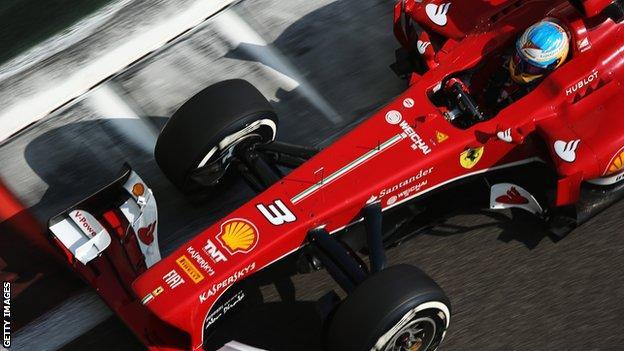 Fernando Alonso racing at the Abu Dhabi Grand Prix