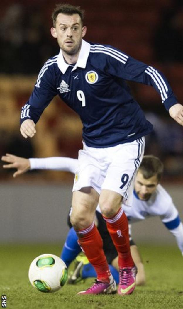 Scotland and Sunderland striker Steven Fletcher