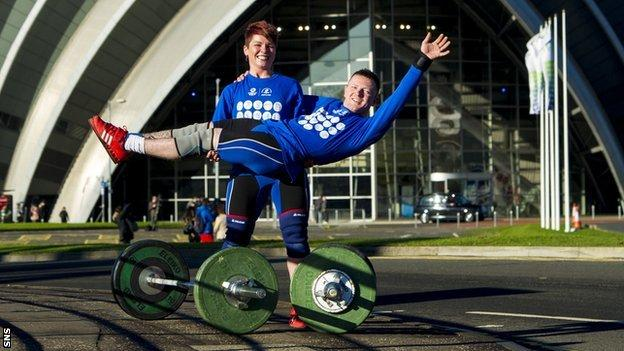 Scottish weightlifters Georgina Black and Craig Carfray