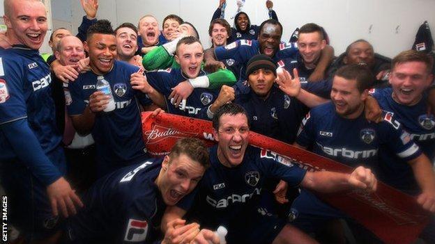 Oldham players celebrate