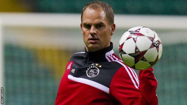 Ajax head coach Frank de Boer