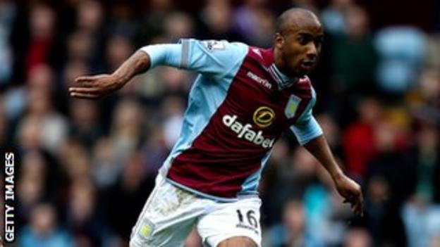 Aston Villa midfielder Fabian Delph