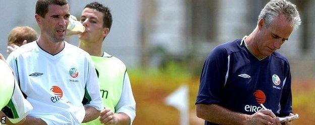 Roy Keane and Mick McCarty