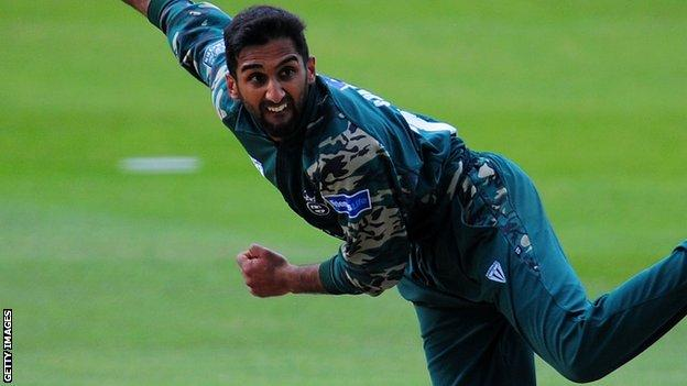 Worcestershire spinner Shaaiq Choudhry