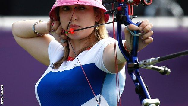 Great Britain's Danielle Brown in action at London 2012