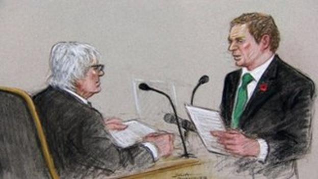 Bernie Ecclestone denied making corrupt payments to a German banker