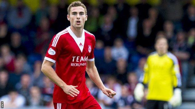 Aberdeen defender Clark Robertson