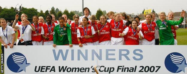 Arsenal won the Champions League in 2007