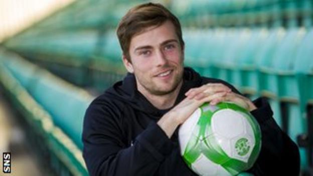 Hibernian midfielder Lewis Stevenson