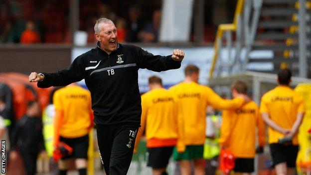 Terry Butcher celebrates success with Inverness Caledonian Thistle