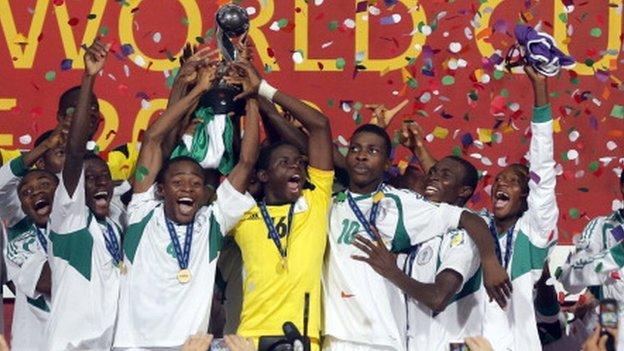 Nigeria celebrate winning the Under-17 World Cup