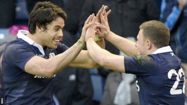 Scotland celebrate against Japan