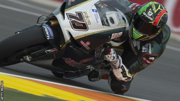 Michael Laverty in action in Valencia
