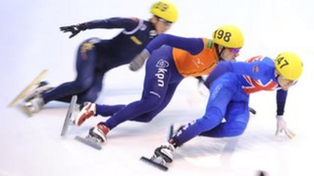Britain's Jack Whelbourne competes in the 500m in the World Cup in Turin