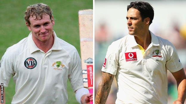 George Bailey (left) and MItchell Johnson