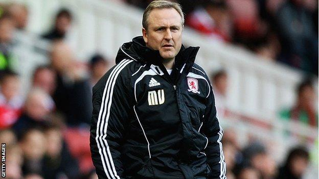 Middlesbrough caretaker manager Mark Venus
