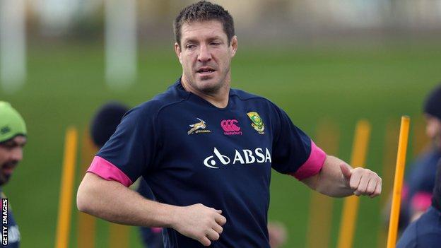 South Africa lock forward Bakkies Botha