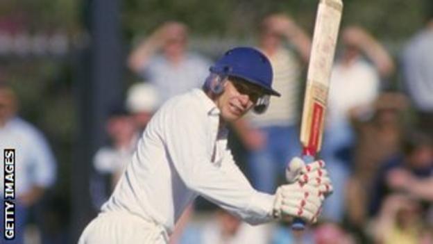 David Gower batting in Perth in 1986