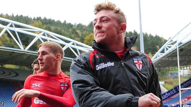 Josh Charnley England training