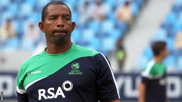 Phil Simmons is coach of the Ireland cricket team