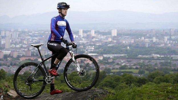 Mountain biker Rab Wardell