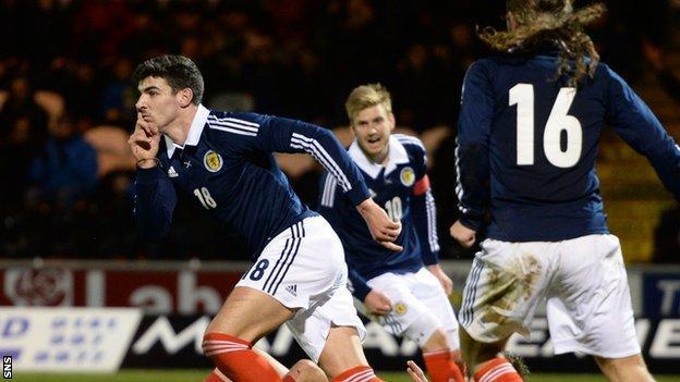 Scotland Under-21's Callum Paterson celebrates