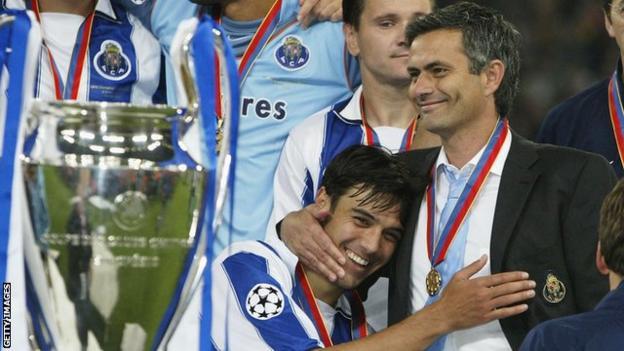 Nuno Valente and Jose Mourinho