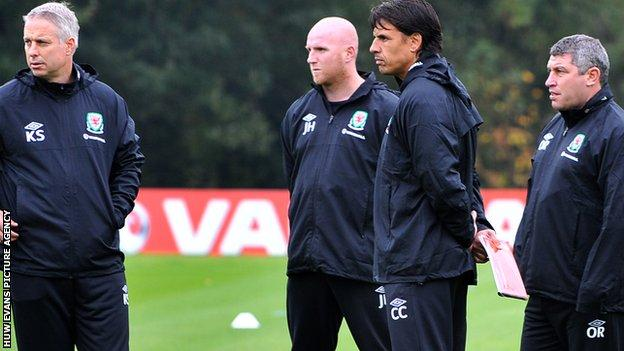 Chris Coleman and Wales coaching team