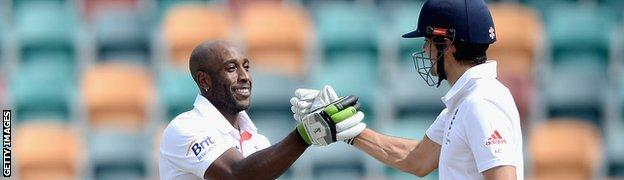 Michael Carberry and Alastair Cook opened together in two of England's three Ashes warm-up games
