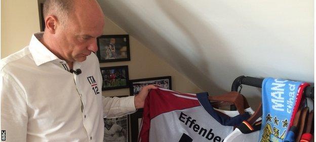Rosler with Stefan Effenburg's shirt