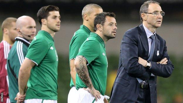 Martin O'Neill saw his Republic of Ireland side beat Latvia 3-0