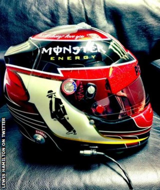 Lewis Hamilton's US GP helmet