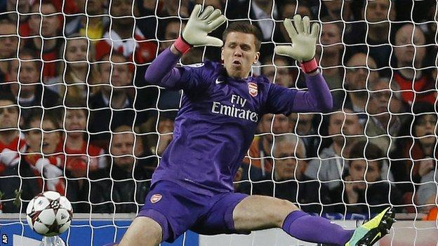 Arsenal goalkeeper Wojciech Szczesny
