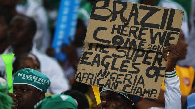 A Nigeria fan