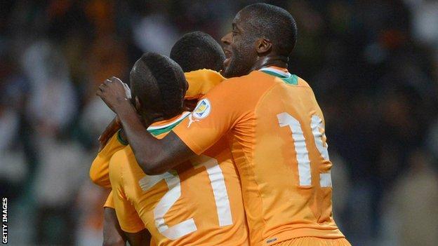Ivory Coast celebrate reaching World Cup
